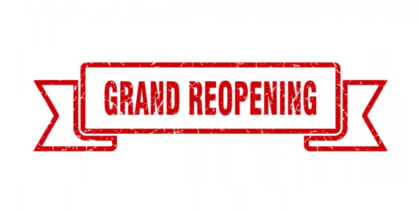 Grand Reopening Graphic