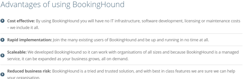 advantages of bookinghound