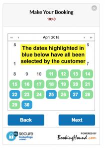 Booking Calendar Screen