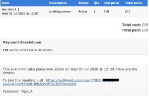 Booking Confirmation