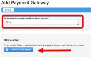 Add Payment Gateway Screen