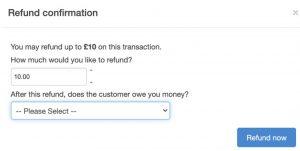Refund Confirmation Screen
